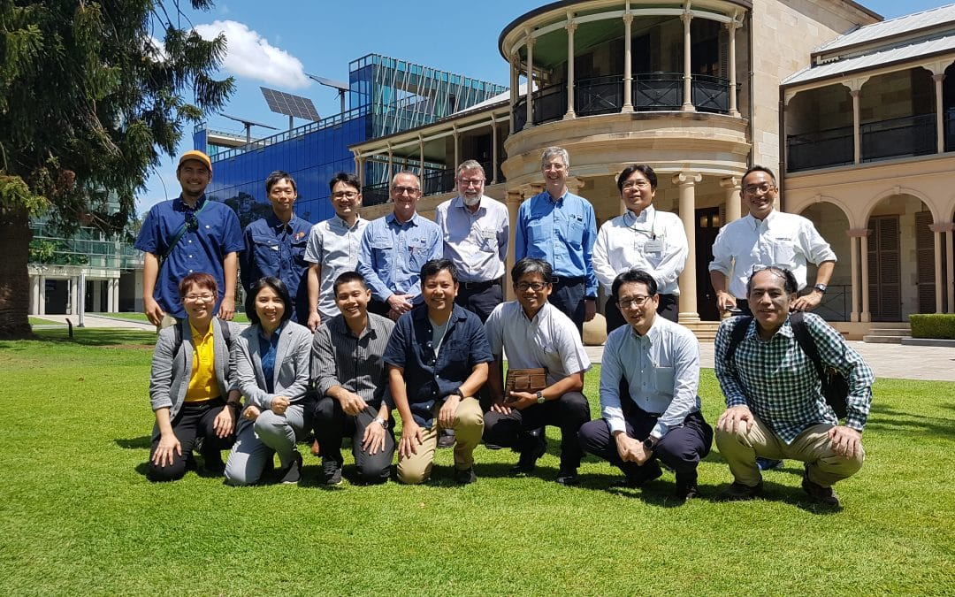 SRI visitors group photo at QUT
